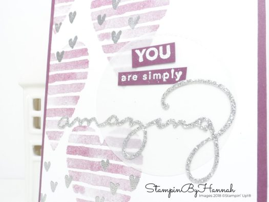 Make It Monday How to create a quick and easy Heart Happiness card using Sale-a-bration goodies from Stampin' Up!