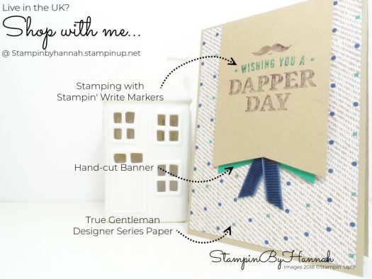How to Make a quick and easy mens card video tutorial using Truly Tailored from Stampin' Up!
