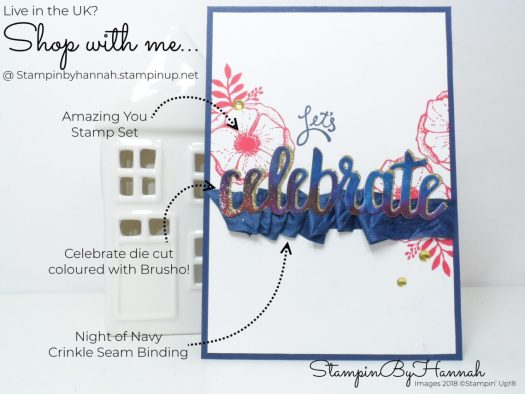 How to create a fun Congratulations card using Amazing You from Stampin' Up!