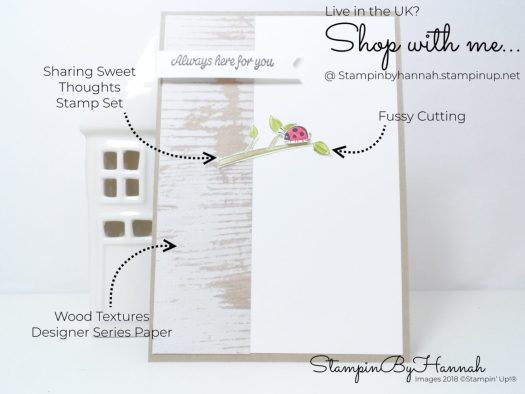 How to make a cute thinking of you card using Sharing Sweet Thoughts from Stampin' Up! UK
