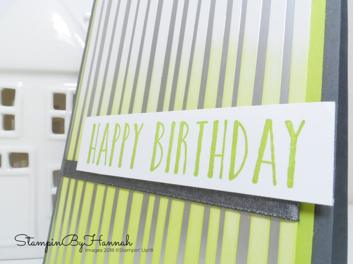 How to make a quick birthday card using Designer Series paper and the Perennial Birthday Stamp Set from Stampin' Up!