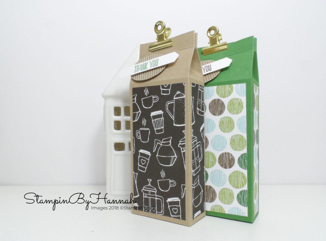 Make It Monday Video Tutorial Cute Box using Coffee Break Designer Series Paper from Stampin' Up!