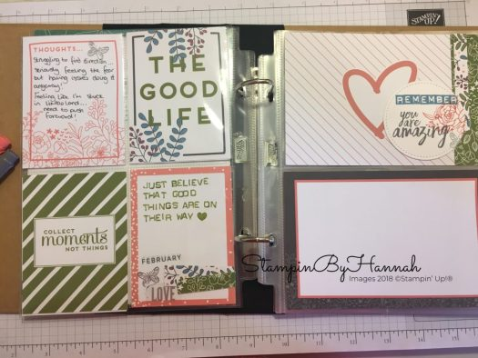 One Little Word Stamped vision board using Memories and More from Stampin' Up!