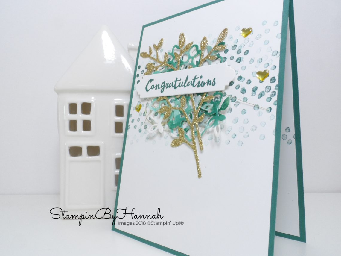 International Blog Highlights Floral Congratulations card using Petal Palette from Stampin' Up!
