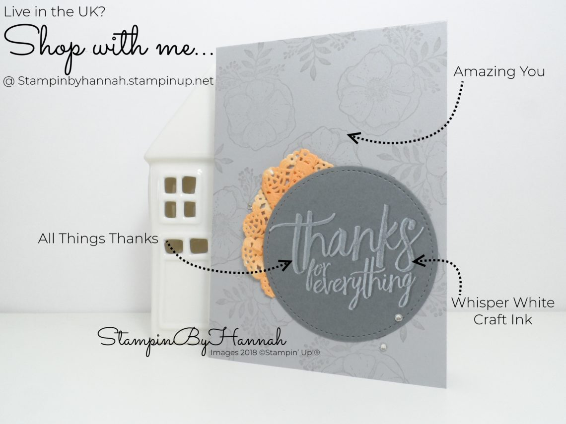 Techniques Card making tutorial using Amazing You Sale-a-bration and All Things Thanks from Stampin' Up!