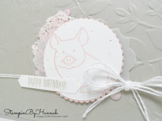 Cute birthday card using This Little Piggy from Stampin' Up!