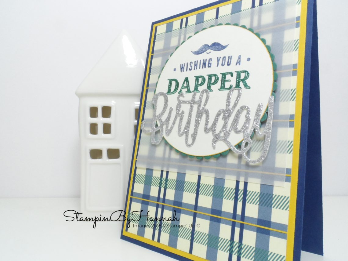 Masculine Birthday Card using Truly Tailored from Stampin' Up!