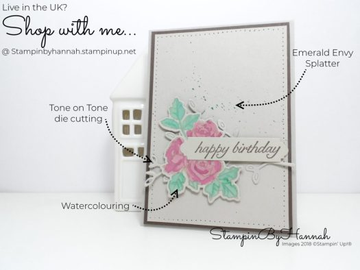 How to make a classy watercolour birthday card using Petal Palette from Stampin' Up!