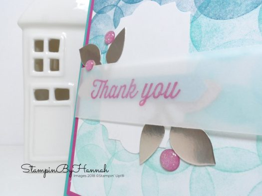 Fun Ombre Stamping Thank you card using Eclectic Expressions from Stampin' Up!