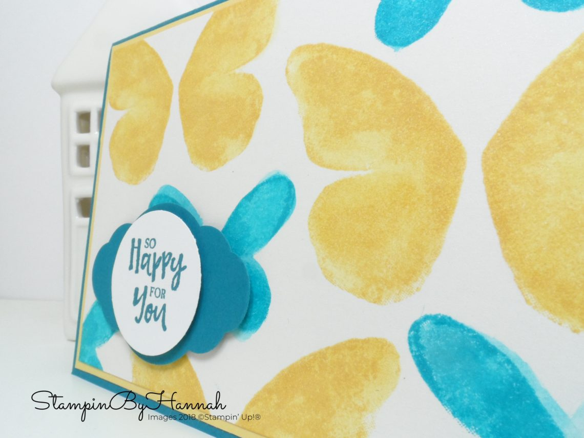 How to make a card using Faux Watercolour with Watercolour Wings from Stampin' Up!