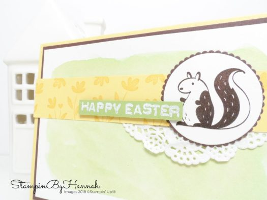 Global Design Project 131 Easter Theme challenge Happy Easter Card using Hedgehugs from Stampin' Up!