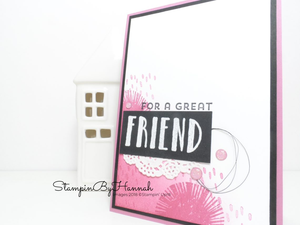 How to do Ink Blending with Stampin' Up! Classic Ink and StampinByHannah Video Tutorial