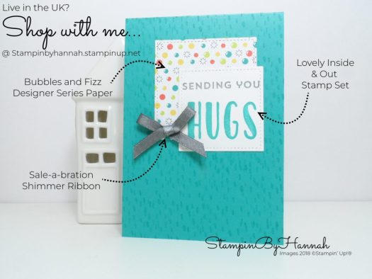 How to make a bright and fun card using Bubbles and Fizz Designer Series Paper and Lovely Inside and Out from Stampin' Up!
