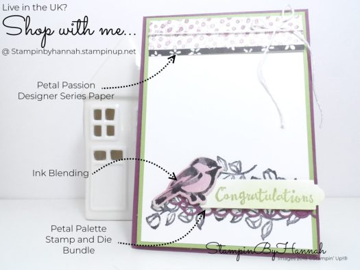 How to make a fun congratulations card using Petal Palette from Stampin' Up!