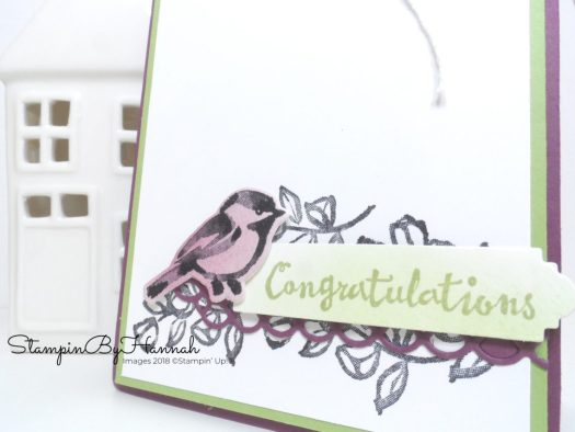 Create an ink blended congratulations card using Petal Palette from Stampin' Up!