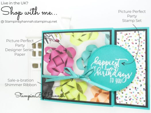 How to make a fun Birthday card using Designer Series Paper from Stampin' Up!