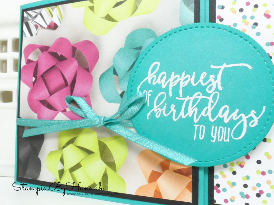 Quick and fun Birthday card with a difference using Picture Perfect Birthday from Stampin' Up!
