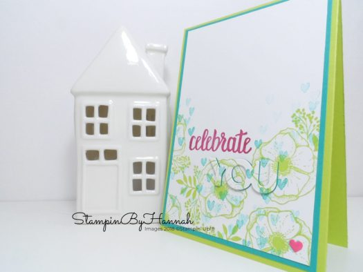 Bright Fun and easy Eclipse card using Celebrate You from Stampin' Up! Sale-a-bration