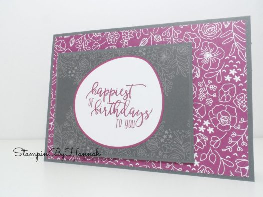 Card making PDF Tutorial Download How to make a Memories and More Birthday Card using Stampin' Up! Sale-a-bration products
