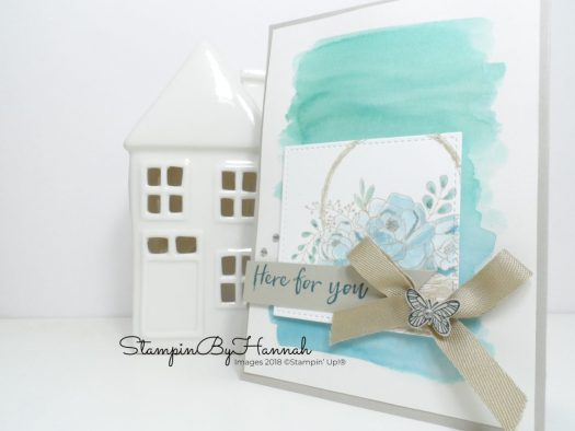 Watercolour card using Blossoming Basket from Stampin' Up! Sale-a-bration