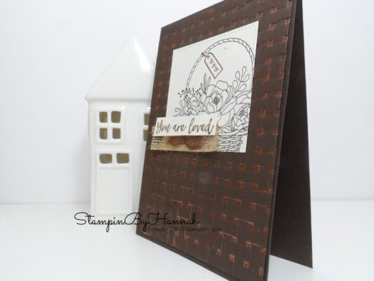 How to make a fun card using Blossoming Basket from Stampin' Up! Sale-a-bration