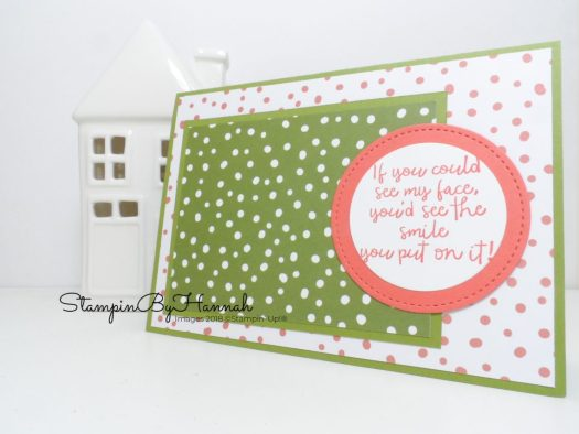 Stampin' Up! Independent Demonstrator StampinByHannah shares Memories and More card making with Customer Thank you cards