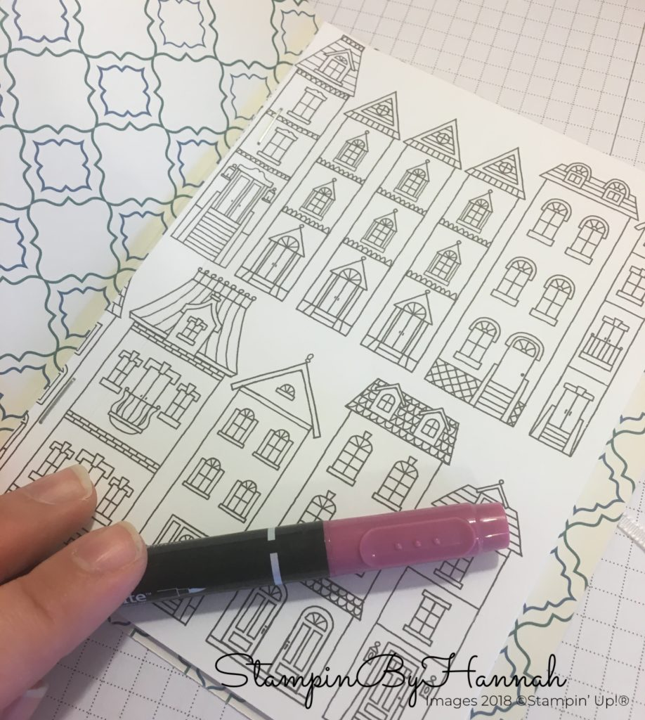 How to make a DIY Colouring Book using Stampin' Up! Designer Series Paper