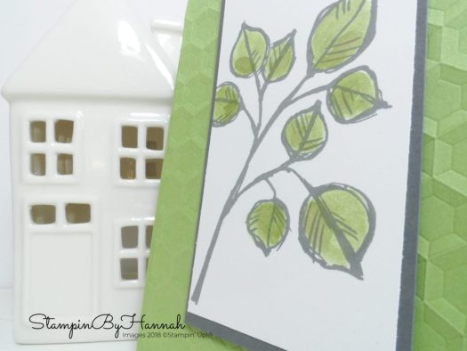 Fun and fresh Just because card using Remarkable You from Stampin' Up! for Thoughtful Thursday