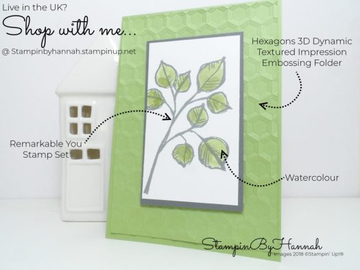How to make a simple watercoloured Just Because card using Remarkable You from Stampin' Up!