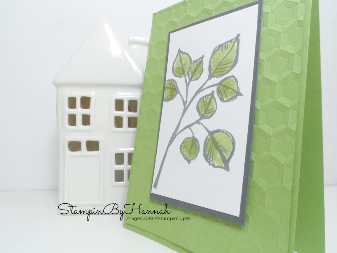 Watercoloured Just Because Card using Remarkable You from Stampin' Up!