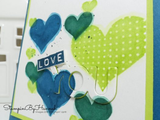 Thoughtful Thursday Love You card with Heart Happiness from Stampin' Up!
