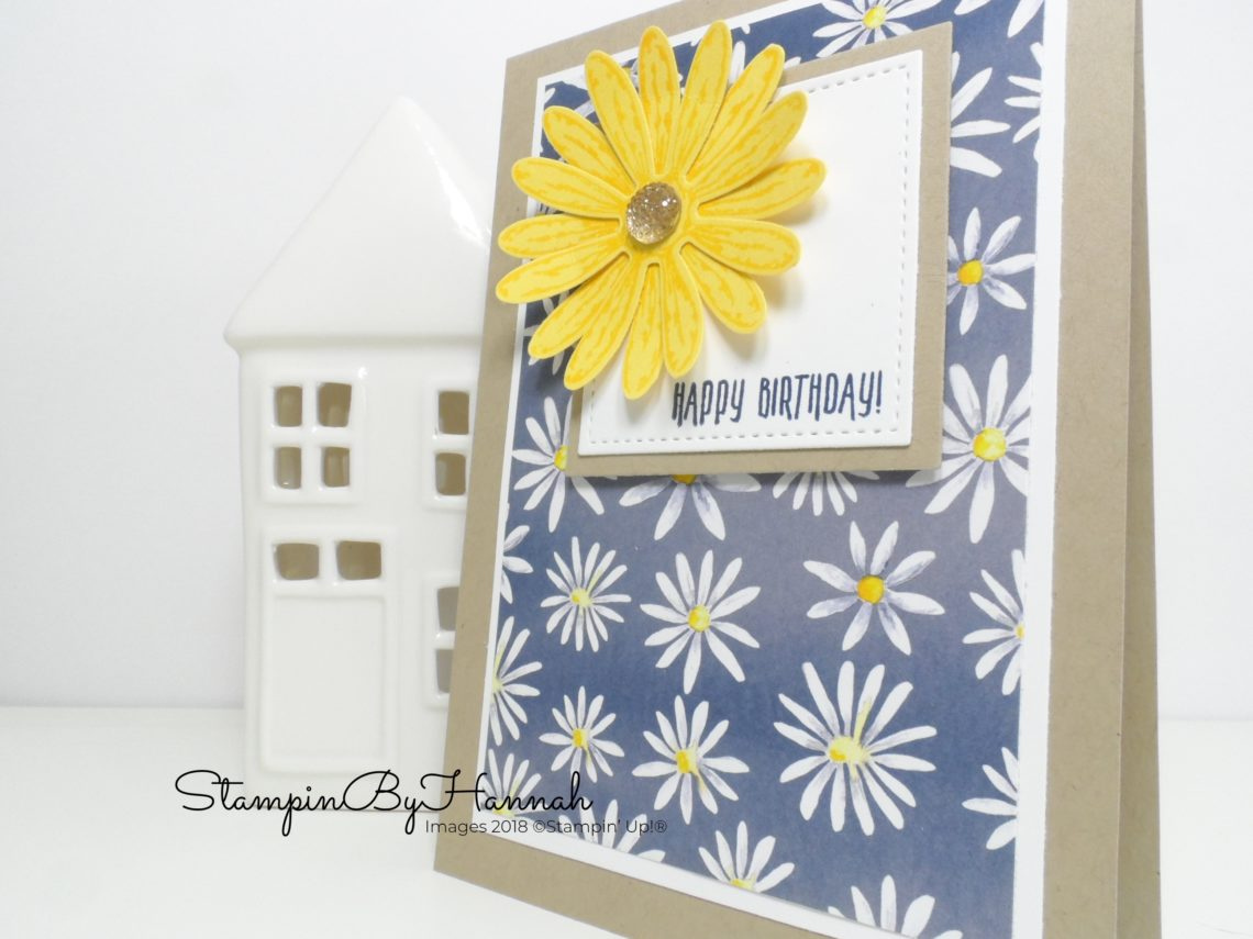 Card making video tutorial fun Birthday card with Delightful Daisy from Stampin' Up!