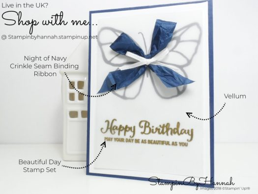 How to make a pretty butterfly Birthday Card using Beautiful Day from Stampin' Up!
