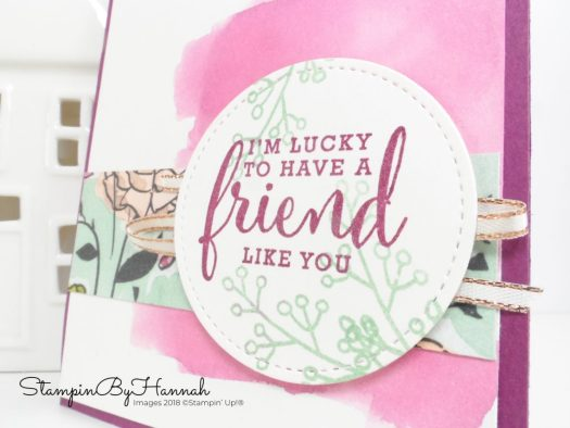 Fabulous Friend Watercolour Card using Love What You Do from Stampin' Up!