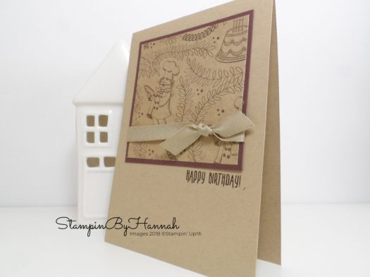 Quick and Easy Birthday card using Designer Series Paper from Stampin' Up!