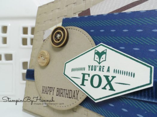 Fun Masculine Birthday card using Truly Tailored from Stampin' Up!