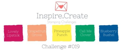 Inspire.Create.Challenges In Colour Challenge using Stampin' Up! colours