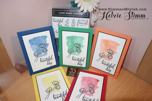 Bright and fun floral cards using 2018-2020 in colours from Stampin' Up! and Love What You Do