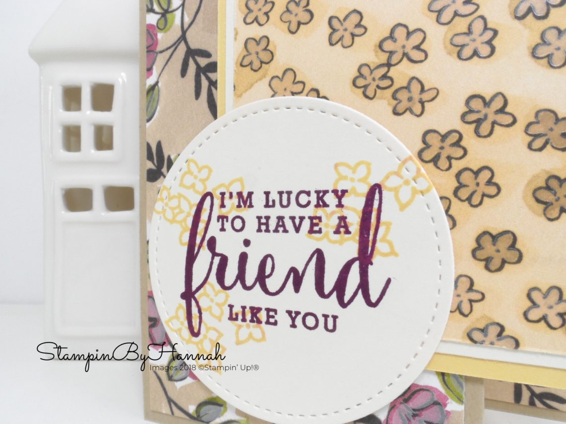 Love What You Do Z Fold Card using Share What You Love Designer Series Paper from Stampin' Up!
