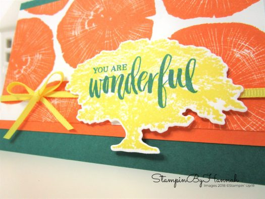Fun Rooted in Nature You are Wonderful Card using Stampin' Up! products