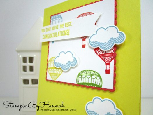 Fun Congratulations card using Lift Me Up from Stampin' Up!