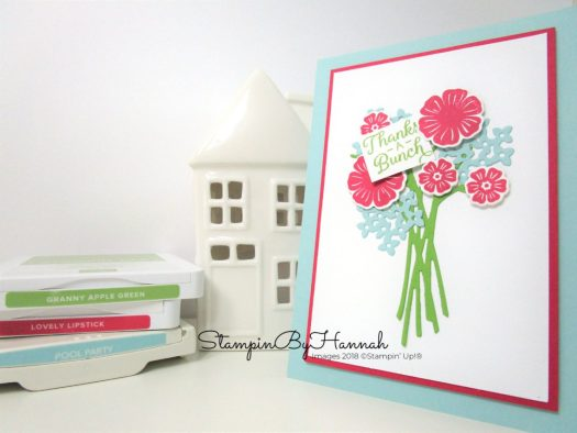 Fun Floral Thank You card using New Ink Colours from Stampin' Up!