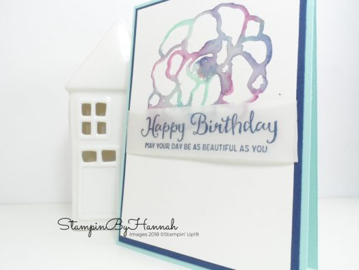 Pretty Watercolour Flower Birthday Card using Stampin' Up! Beautiful Day