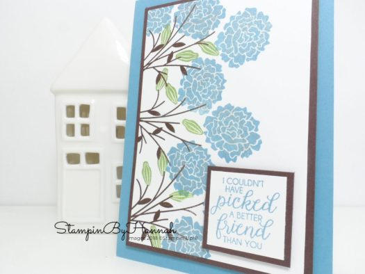 Beautiful Bouquet sparkly friendship card using Stampin' Up! products