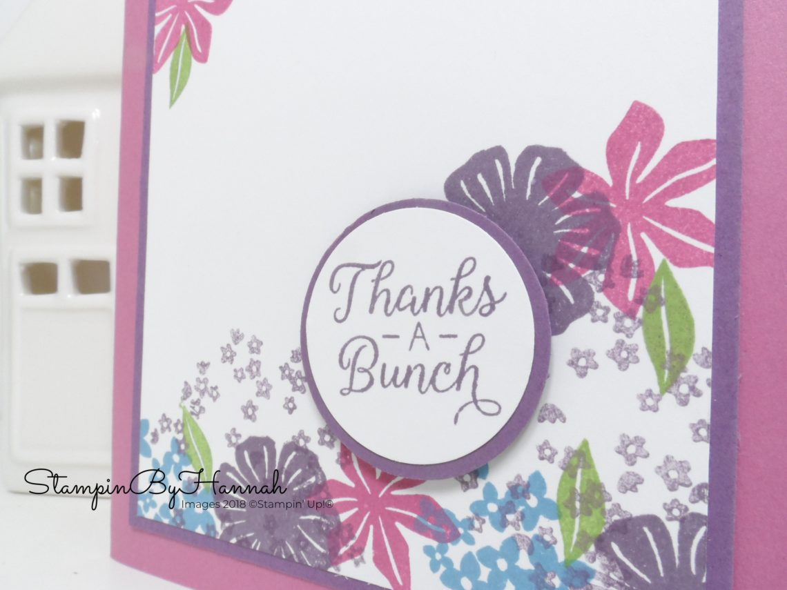 Stampin' Up! Retiring Colours Colour Revamp card using Beautiful Bouquet from Stampin' Up!
