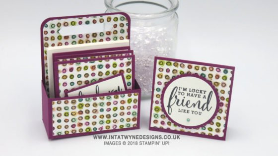 Intatwyne Designs Mini Note Card Set with Video Tutorial using Share What You Love from Stampin' Up!