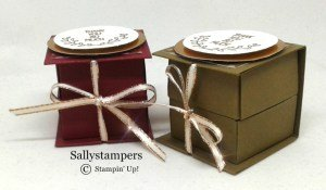 Sally's Book Fold Candle Box using Stampin' Up! products