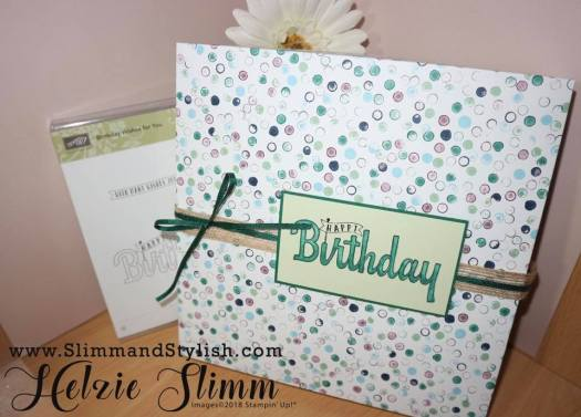 How to wrap a gift using Designer Series Paper from Stampin' Up!