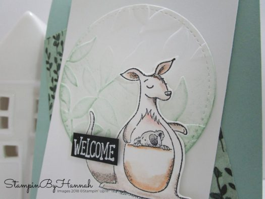 How to make a fun animal themed Welcome card using Animal Outing from Stampin' Up!
