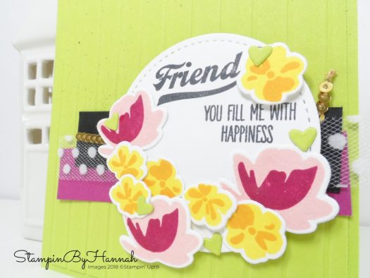 Kylie's International Blog Highlights Friendship card using Jar of Love from Stampin' Up!